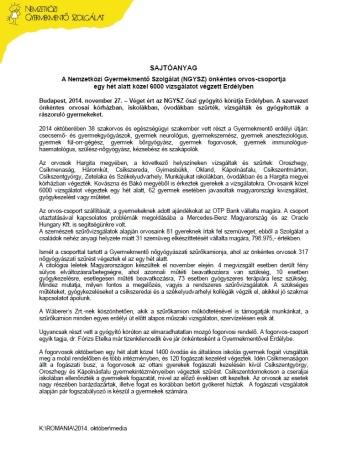 NGYSZ_Erdely_Sajtó 2014.oktober_utoanyag